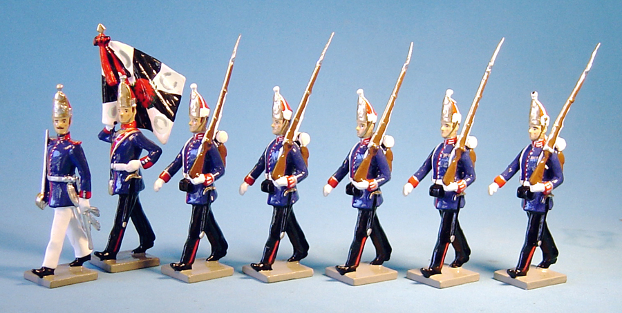 131 - 1st grenadiers regiment, Prussian Guard infantry, 1866 (RETIRED)