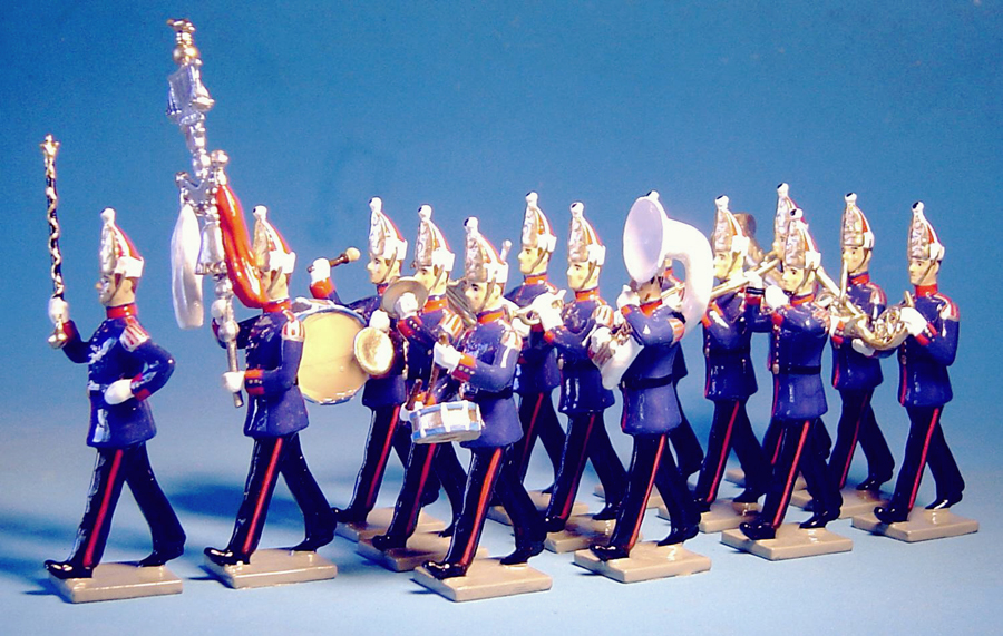 132 - Music band, 1st grenadiers regiment, Prussian Guard infantry, 1866 (double set) (RETIRED)
