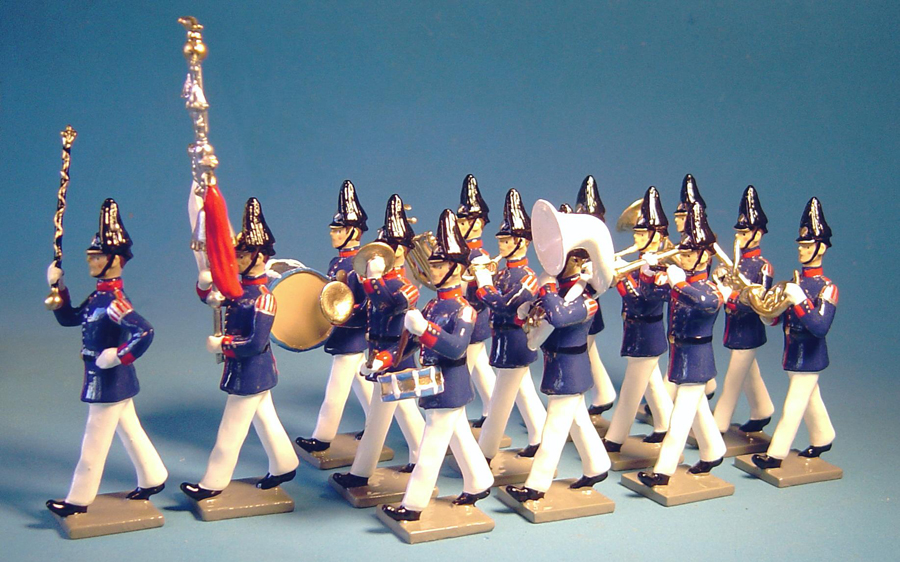 136 - Music band, 1st fusiliers regiment, full dress, summer uniform, Prussian Guard infantry, 1899 (double set) (RETIRED)