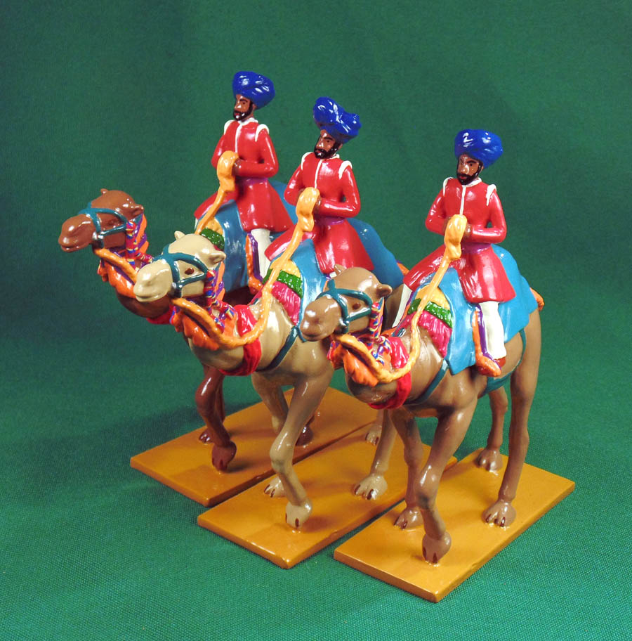 455 - Camel Riders of Charkkhari, Delhi Durbar 1903. </br>Limited edition. Painted by Ana Donzino.